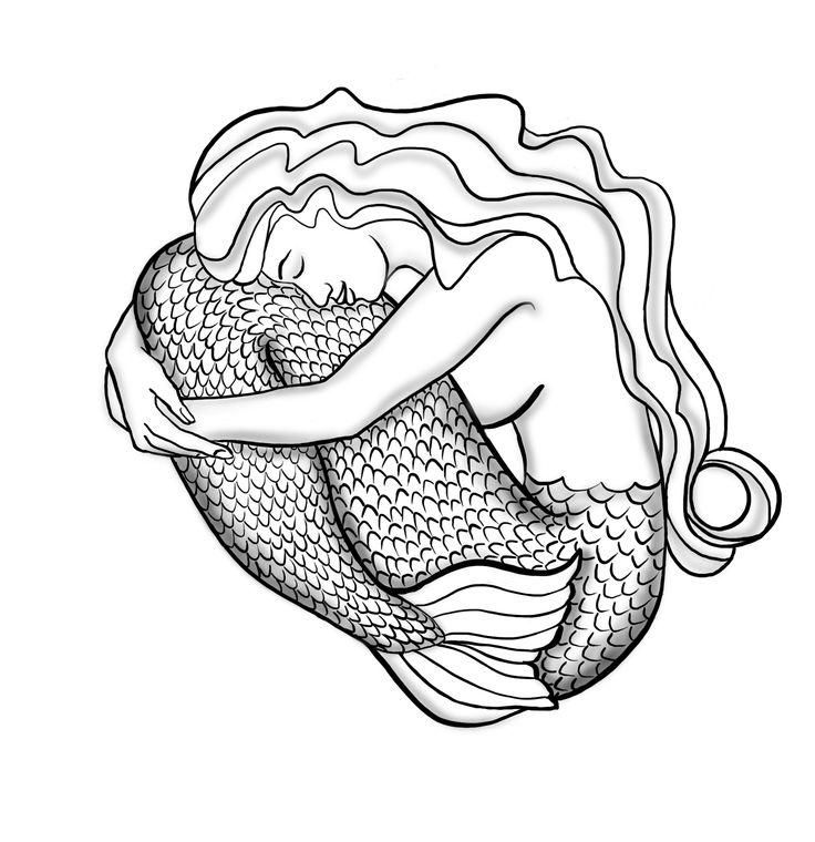 'Mermaid charm' — digital drawing by Johanna Ollila. Inspired by Josh Lanyon's book The Mermaid Murders.