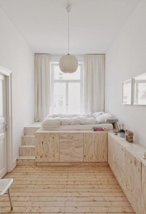 Habitaciones peque as muebles con almacenaje hacer cama - Camas con almacenaje ...