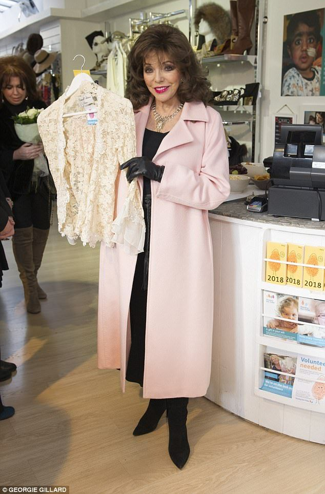 Dame Joan Collins has donated a host of her old clothes and accessories to children's hosp...