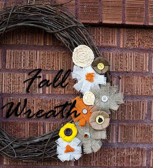 Fall Wreath: Fabric Flowers, Scrappy Flowers, Fabrics Flowers