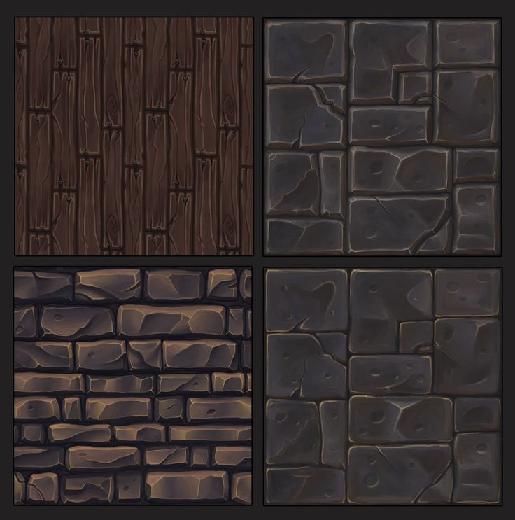ArtStation - Hand painted tileables textures, Mathilde Calon
