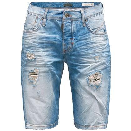 Schöne hellblaue Shorts von Antony Morato. Sie ist extrem lässig und liegt mit ihrem Usedlook absolut im Trend. - ab 39,90 €