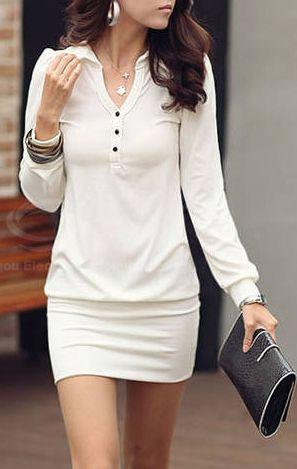White | Cotton blend Dress.