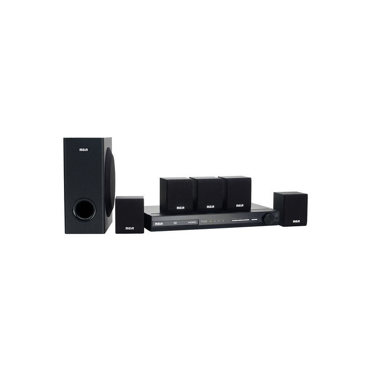 RCA 100W Blu-ray Home Theater System, Black