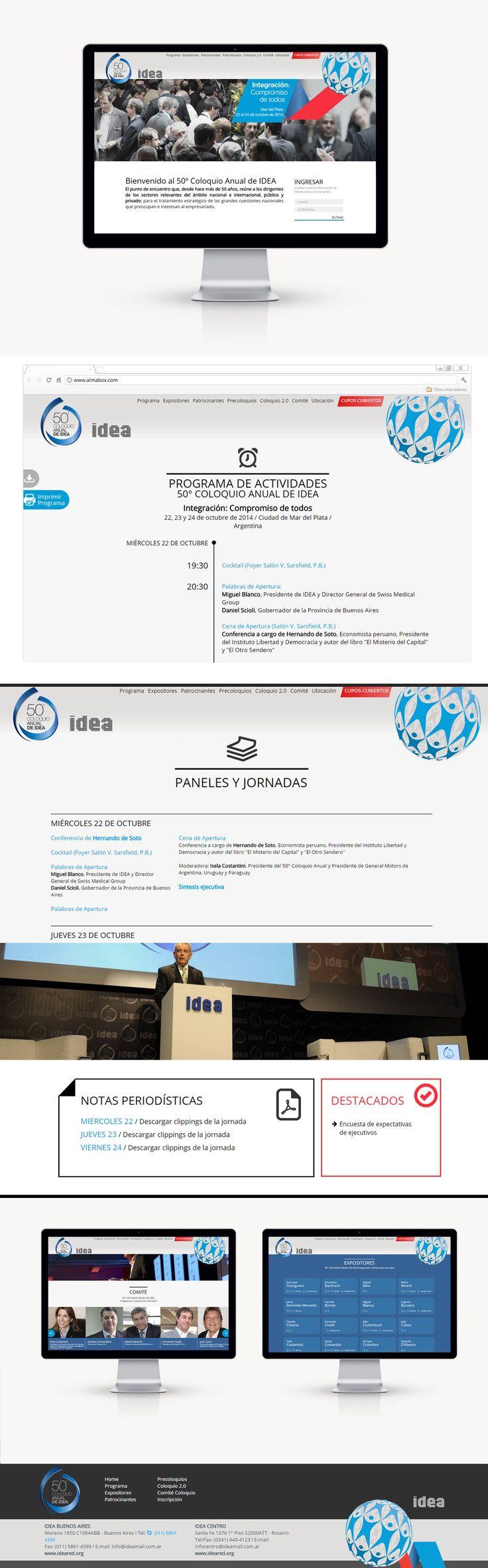 Por sexta vez consecutiva, nos eligieron para diseñar y hacer el soporte tecnológico y multimedial durante el 50º Coloquio Anual de IDEA en Mar del Plata.