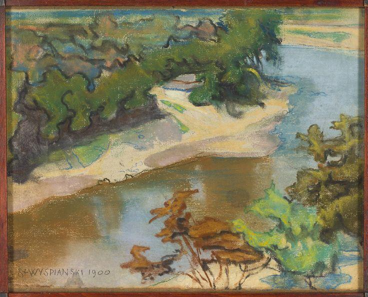 Pejzaż z rzeką, Stanisław Wyspiański