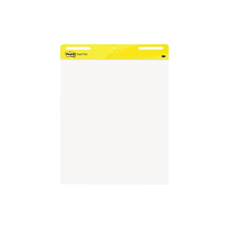 Post-it Self-Stick Easel Pads - White (30 Sheets Per Pad)