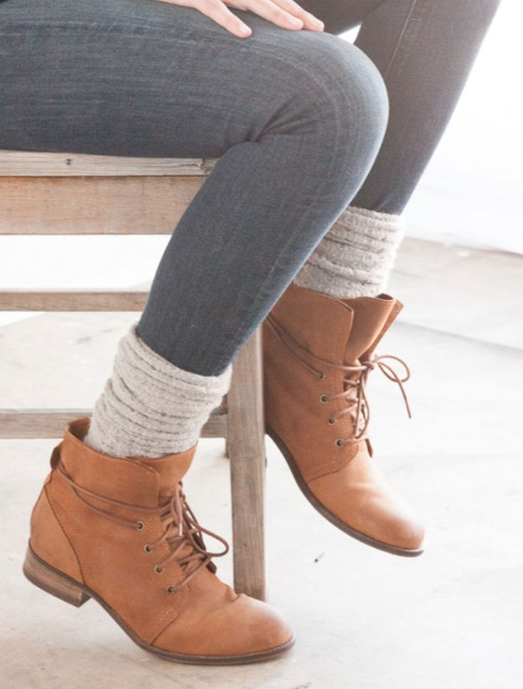 Despite their stupid name, booties are really cute. Love this style of pairing em with socks.