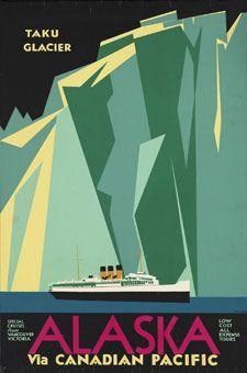 Alaska Art Deco Poster