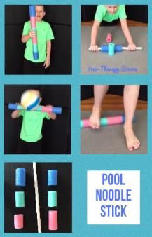 Pool Noodle Stick for Reaction Time, Coordination and Balance