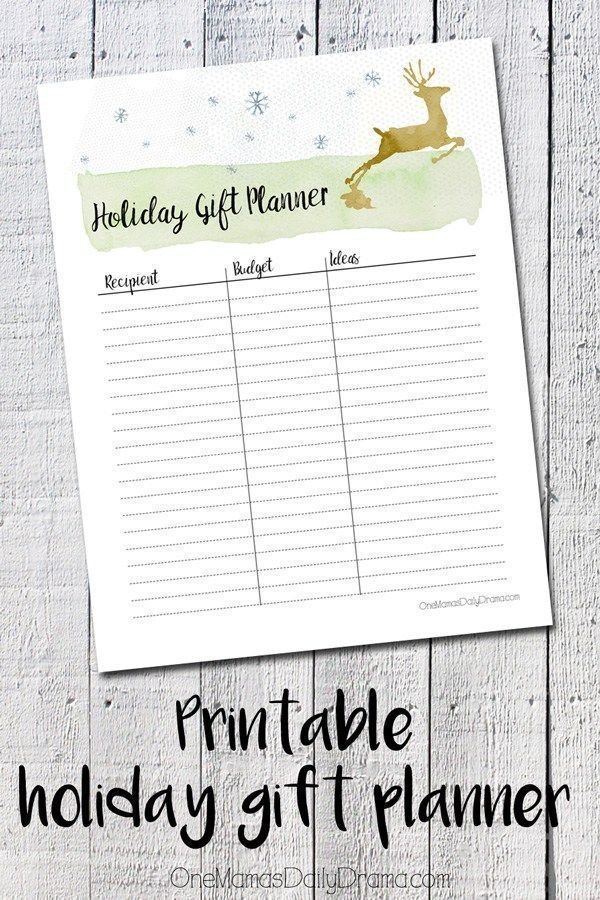 Free printable holiday gift planner | Make a list of who you need to shop for, set a budget, and jot down ideas as they come. Save money this Christmas by planning ahead!