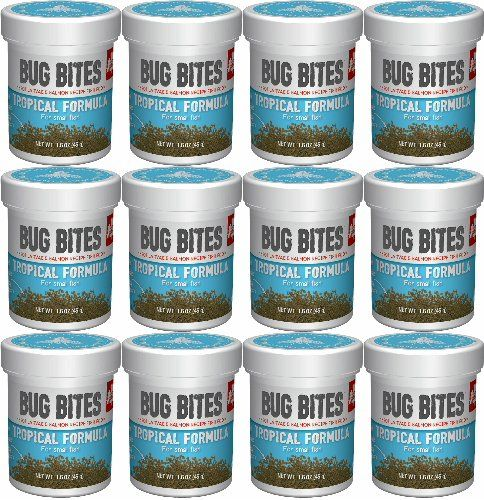 Fluval A6577 Bug Bites Tropical Fish Small Granules 1.59 oz, Small to Medium Fish
