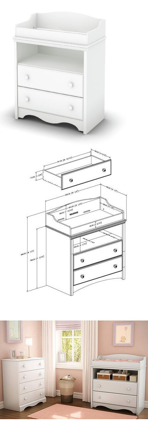 Baby Nursery: Baby Changing Table With Drawers In White - Nursery Furniture -> BUY IT NOW ONLY: $254.95 on eBay!