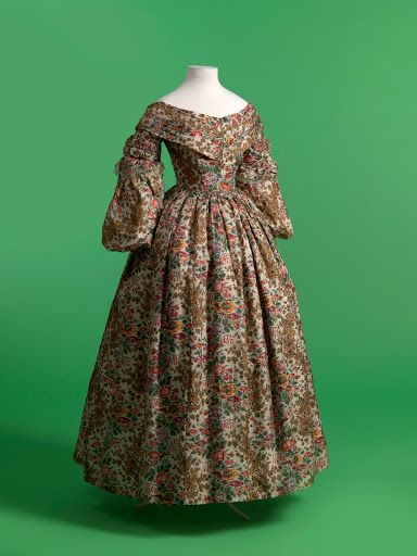 After about 1840, it became customary to have dresses with two or even three different bodices made for different occasions. In the middle of the century, ...