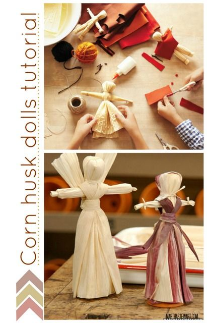 30 Kids Fall Crafts (pine cones, fall leaves, acorns and more) The husk dolls might work, for our angel tree topper!