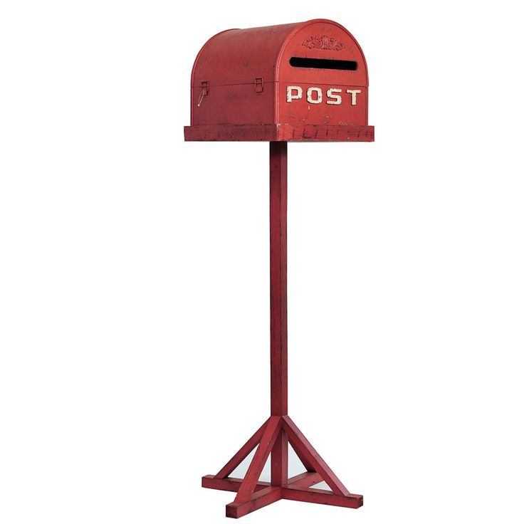 Red Vintage Wedding Mailbox On Stand - The Wedding of My Dreams