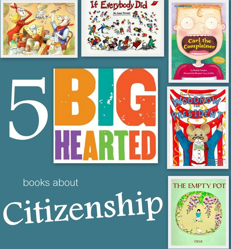 5 Big-Hearted books about Citizenship - with discussion questions - teach kids to be patriotic by teaching them what it means to be a good citizen