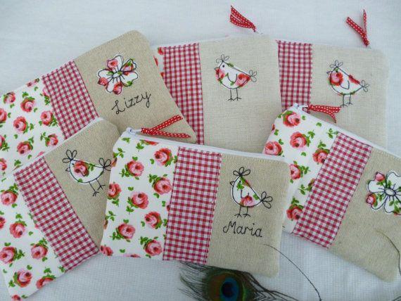 Handmade piccola trousse trucco o borsa con possibilità di