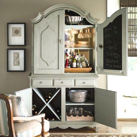 10 Ideas For Setting Up A Home Bar - (http://celebrationsathomeblog.com/2013/06/set-up-a-home-bar.html) -  THIS ONE MY FAVORITE! :)