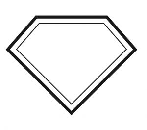 superhero template cape outline sketch coloring page