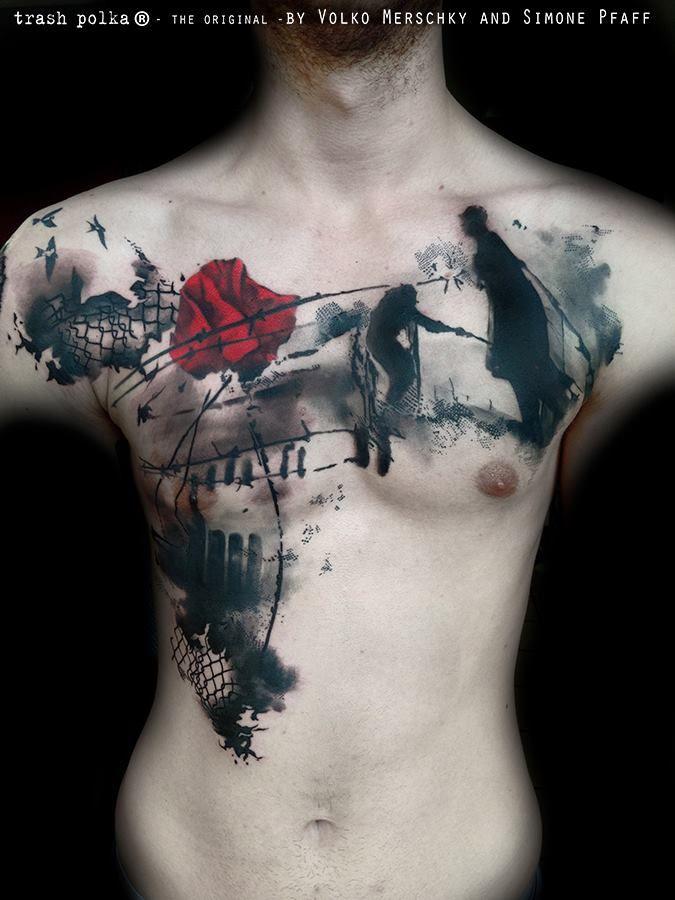 TRASH POLKA- Tattoo by Volko Merschky and Simone Pfaff