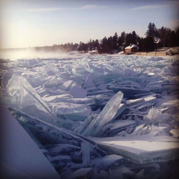 The Frozen Shore of Lake Superior