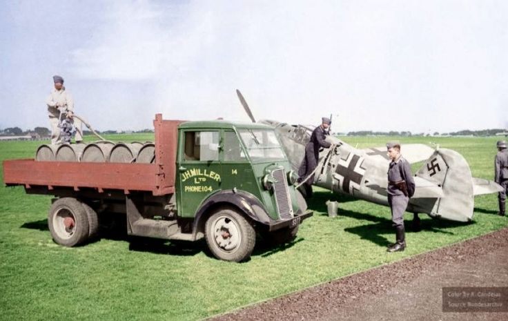 Luftwaffe at La Villiaze airfield, Guernsey. 1940