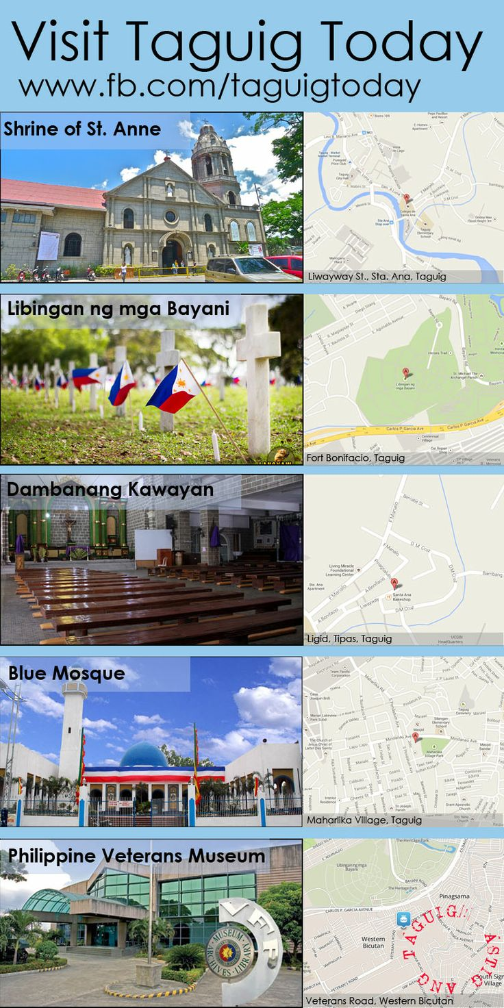 Learn all about Taguig at wwwfacebookcomtaguigtoday
