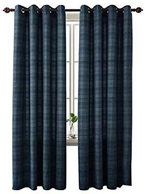 amazon com deconovo buffalo checkered semi sheer curtains plaid rh gr pinterest com