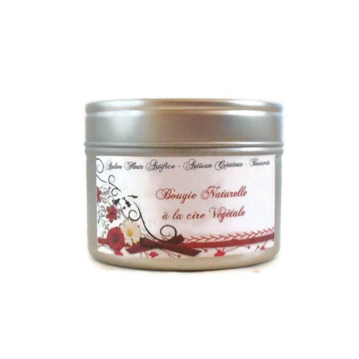 Bougie Parfumée Jardin d'Hiver Cire Végétale Naturelle : Luminaires par fondants-de-cire-parfumes-fleur-artifice