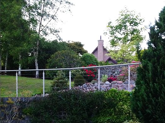 When you have a lush green #garden like this the #WireRope #balustrade lines the #walkways beautifully.