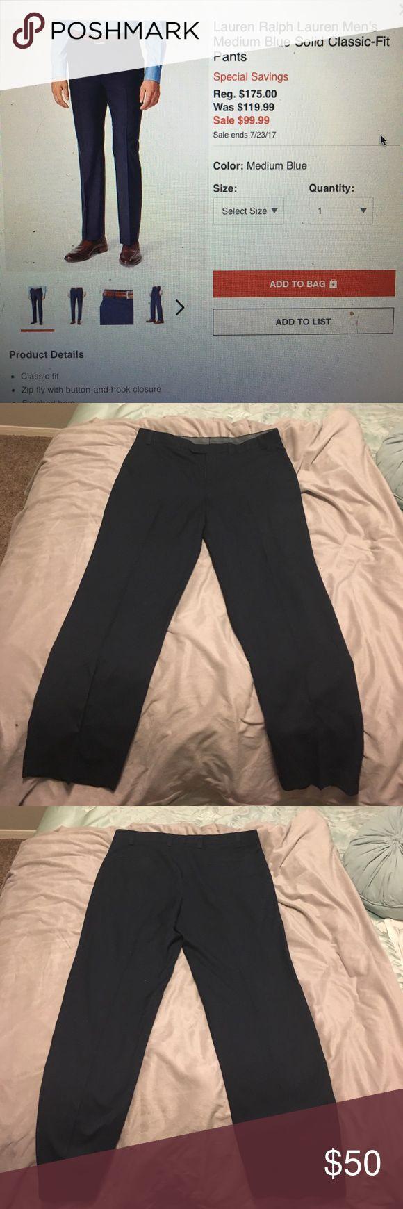 Ralph Lauren Classic fit suit separates Lauren Ralph Lauren Men's Medium Blue solid classic-fit pants.  No signs of wear just doesn't fit my boyfriend anymore Lauren Ralph Lauren Pants Dress