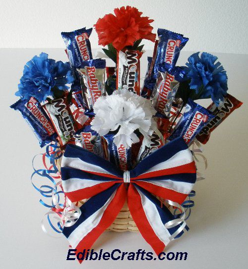 4th of july decorations - DIY Patriotic candy centerpiece