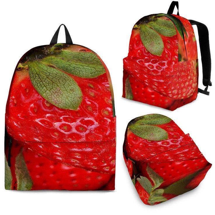 Sac à dos aux fraises