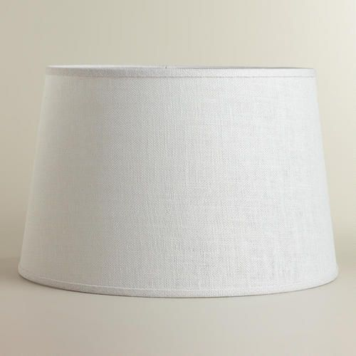 One of my favorite discoveries at WorldMarket.com: Marshmallow White Burlap Floor Lamp Shade