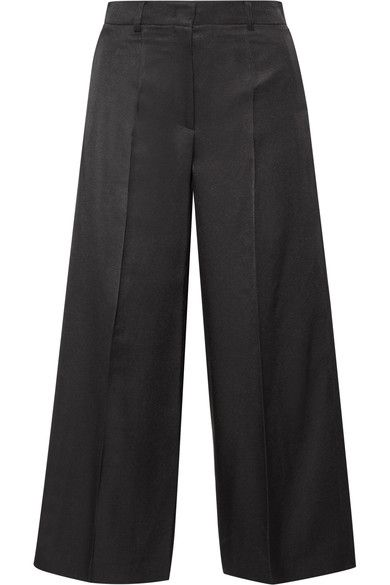Barbara Casasola - Wool And Silk-blend Culottes - Black - IT38