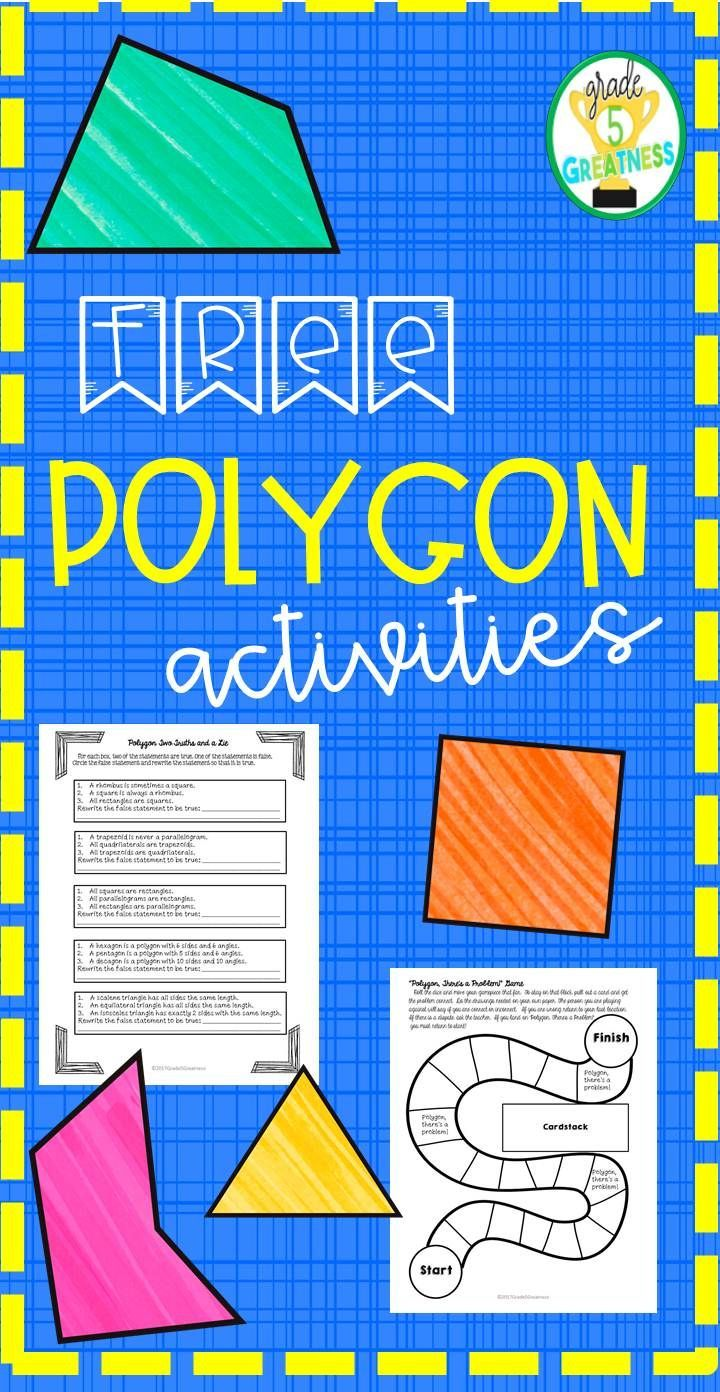 FREE activities for polygons…   Fabulous Fourth Grade by Jordyn ...