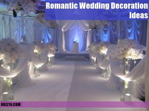 50 Romantic Wedding Decoration Ideas   http://buzz16.com/romantic-wedding-decoration-ideas/