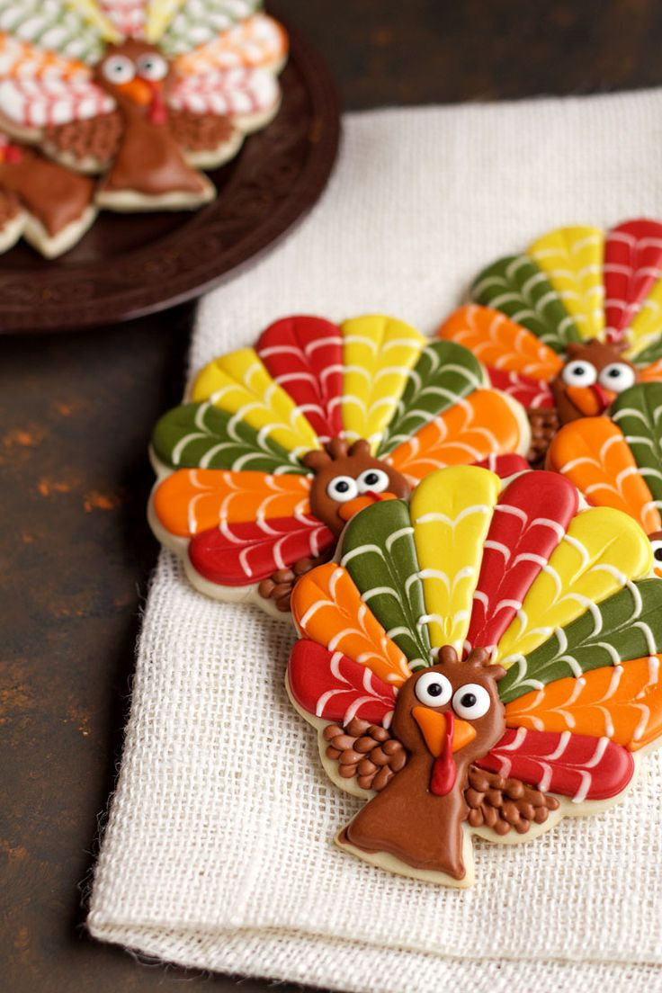 Decorated Turkey Cookies