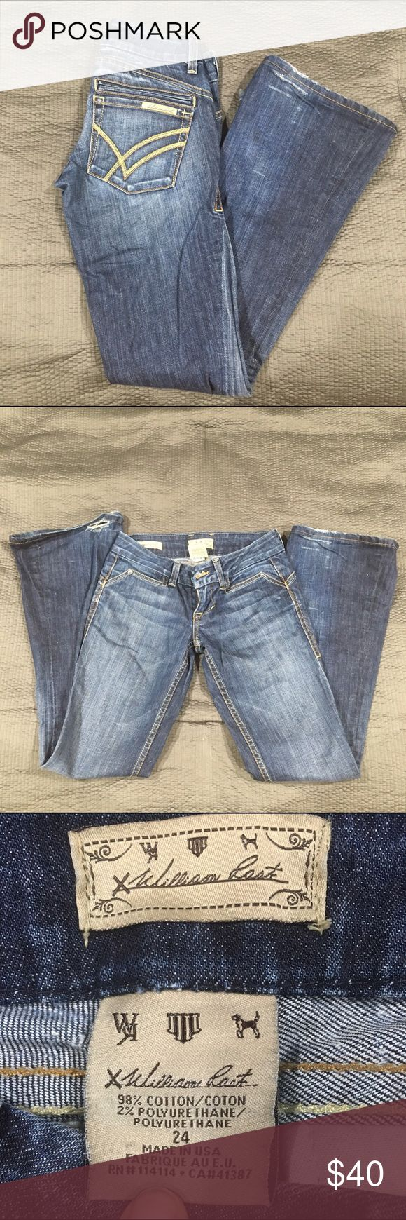 William Rast Savoy jeans William Rast Savoy jeans! These were my favorite pair of jeans! They are great quality and they look amazing on. Sadly they don't fit anymore. Tag says 24 but could fit a 25 as well, they are flare jeans. If you have any questions please feel free to ask! William Rast Jeans