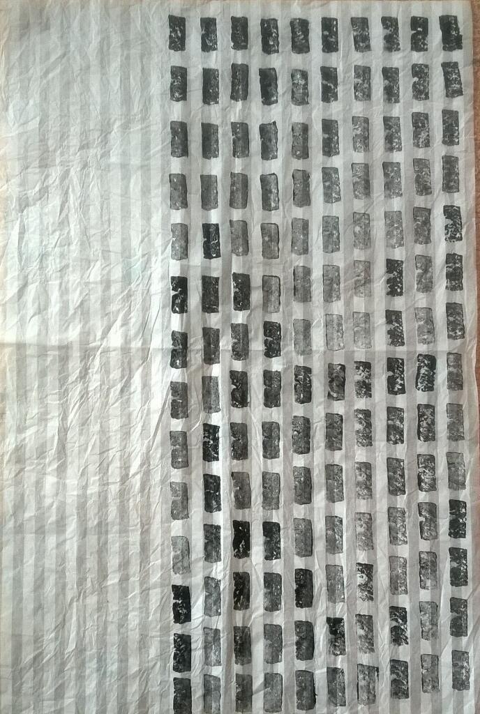 printmaking on marimekko wrap paper