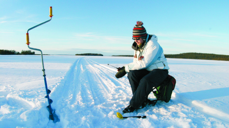 Ice Fishing -Rovaniemi, Lapland, Finland