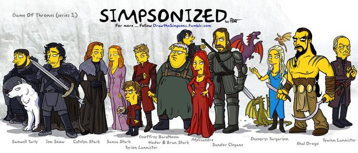 Game Of Thrones Simpsonized by ADN-z.deviantart.com on @deviantART