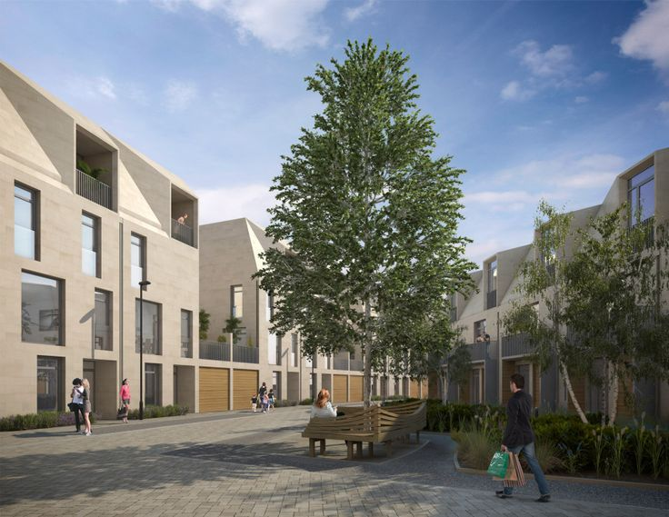 Alison Brooks Architects _ Bath Western Riverside _ 3D View Internal Courtyard
