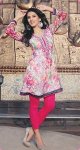Show details for Summer Pink and White Kurti