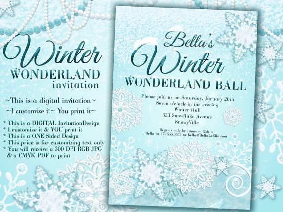 17 best sweet 16 images on pinterest | sweet 16, winter wonderland, Party invitations