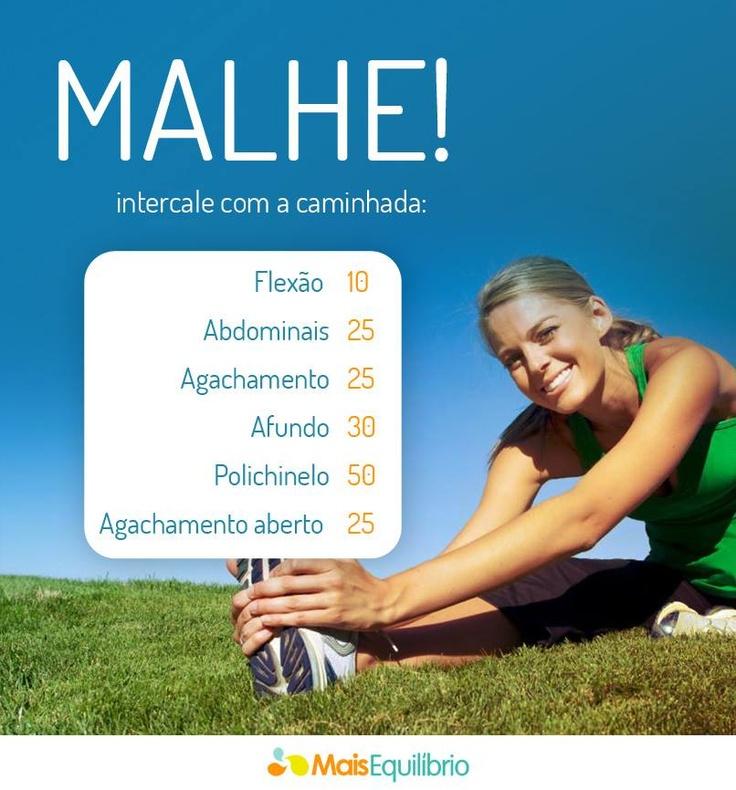 Vai malhar mais tarde? Intensifique o treino intercalando esses exercícios entre a caminhada! http://maisequilibrio.com.br/fitness/bumbum-nota-10-3-1-2-447.html