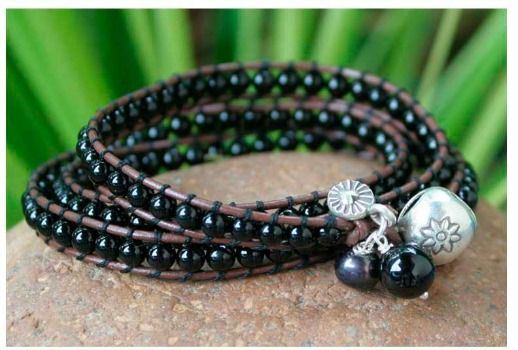 Onyx is the anniversary stone of 7 years and encourages good fortune and gives strength.