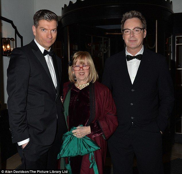 Specs appeal: Tessa Kennedy, centre, and Julian Clary, right, were among the revellers on ...