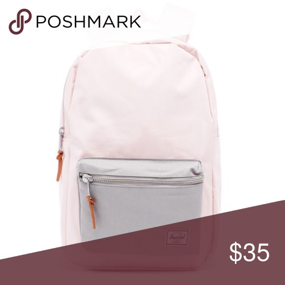 Herschel settlement backpack in light pink/ grey NWT, never used and in perfect condition! Medium sized backpack, fits more than I️t looks! Herschel Supply Company Bags Backpacks